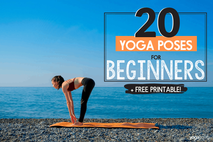 20 Yoga Poses For Complete Beginners Free Printable Yoga Rove
