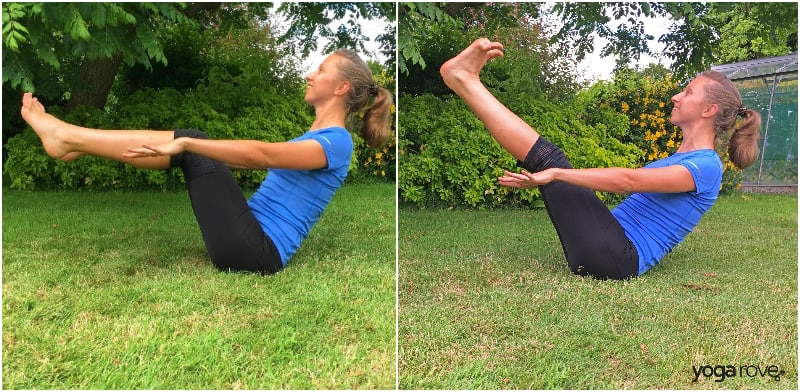 Yoga Poses for the Core- Boat Pose and Variation