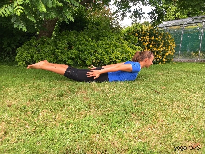 Yoga Poses for Core- Locust Pose