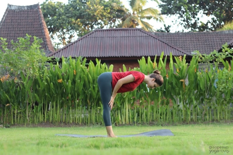 Yoga Poses for Beginners: Standing Half Forward Fold