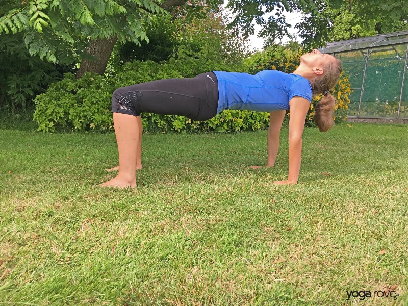 Yoga Poses for Core- Reverse Tabletop
