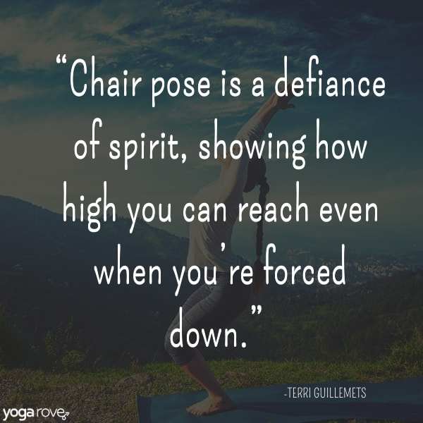 yoga quote chair pose