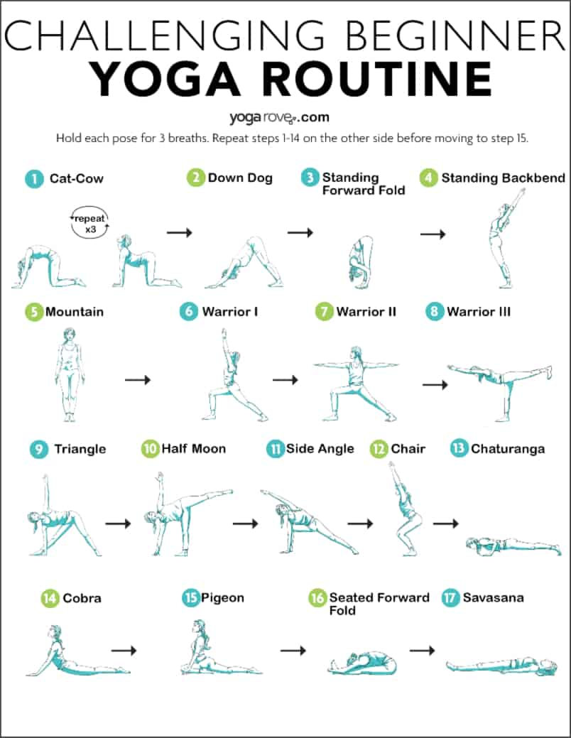 20 Minute Yoga Routine for Beginners Printable PDF