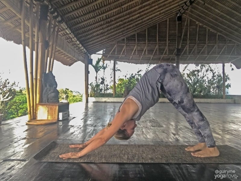 yoga for stress relief- downward dog