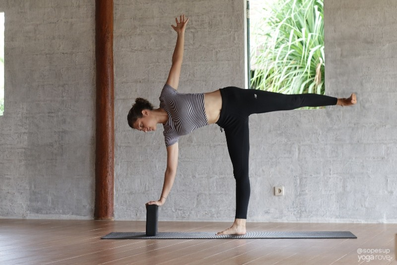 Half Moon Yoga for Weight Loss Routine