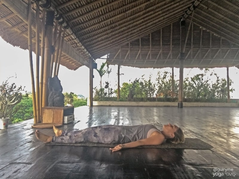 Savasana pose for stress relief last pose of sequence