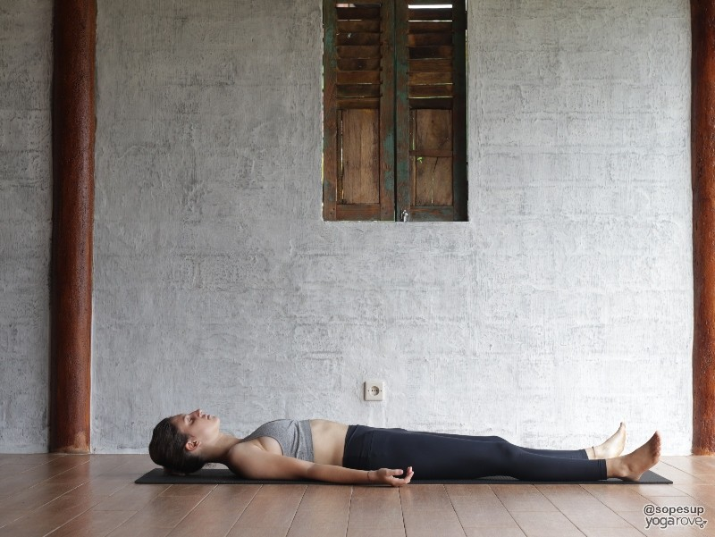 Savasana- resting poses in full body yoga sequence