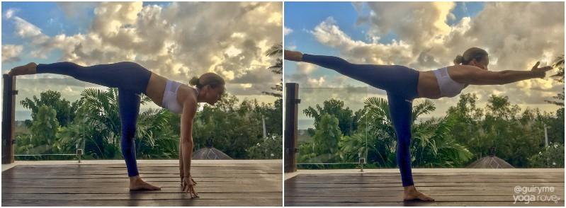 Beginner Yoga Routine-= Warrior III and variation