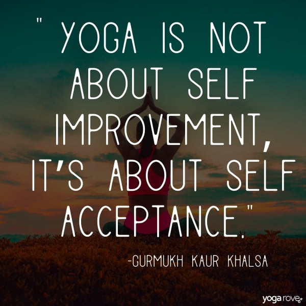 Yoga quote about self acceptance
