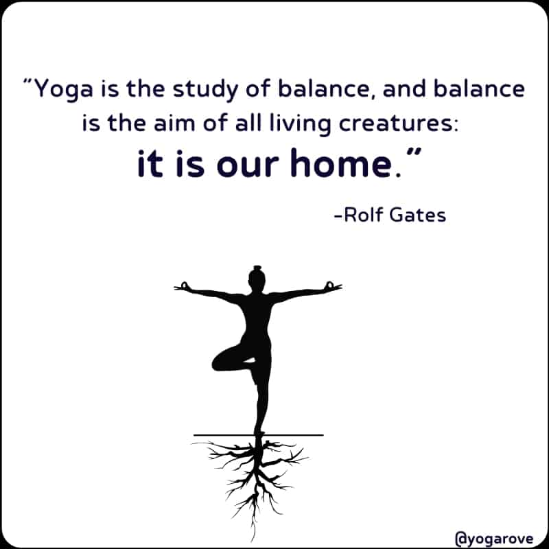 Yoga Quote about balance