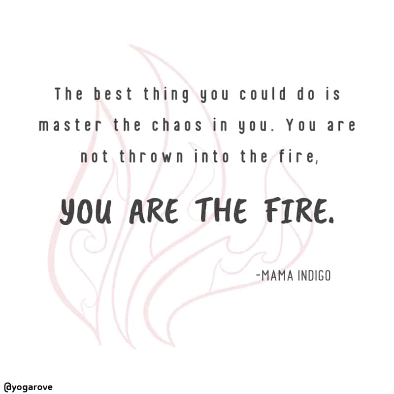 Yoga quote from mama indigo