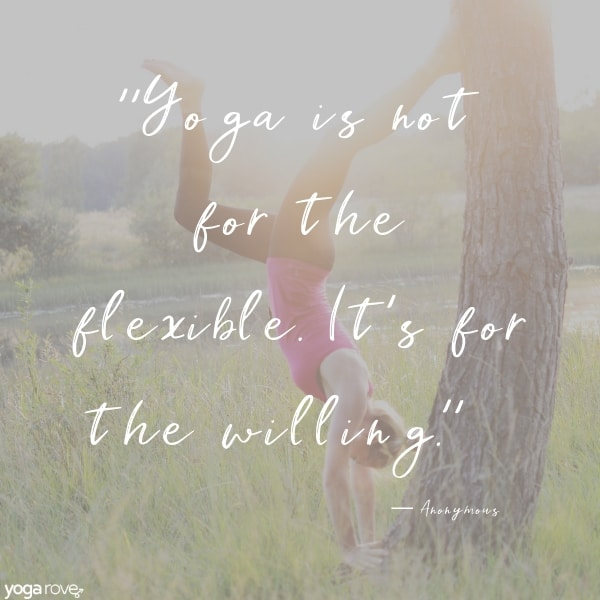 yoga quote about flexibility