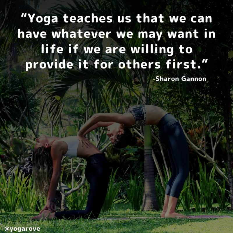 Yoga quote about giving and pertners