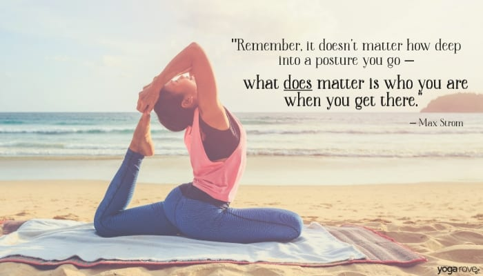 yoga quote about postures