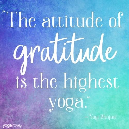 Gratitude Yoga Quote
