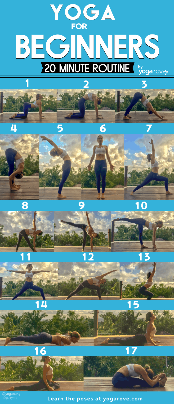 20 Minute Yoga Routine for Beginners Infographic