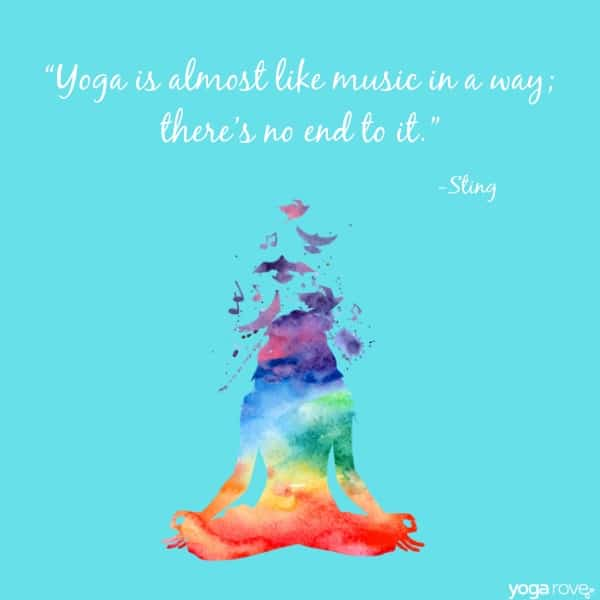 yoga quote from sting