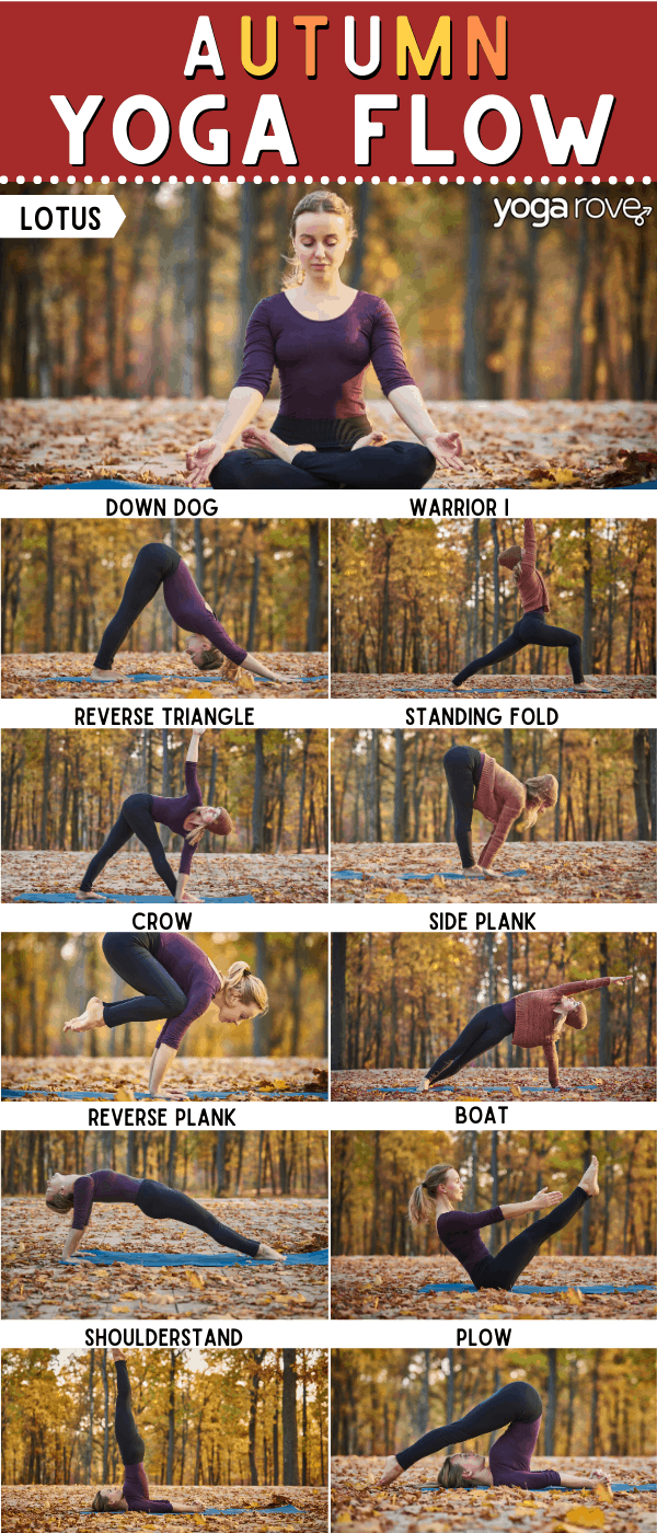 Yoga for Fall Sequence Infographic