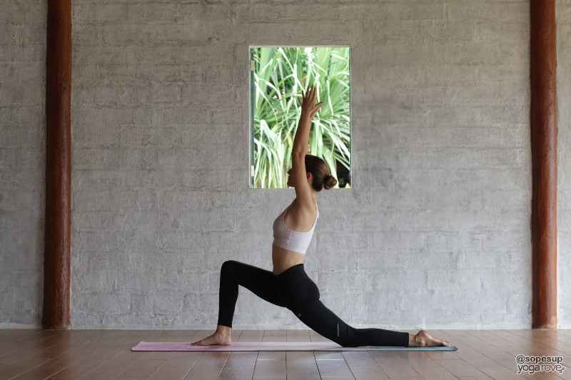 Crescent Lunge- flexibility yoga pose