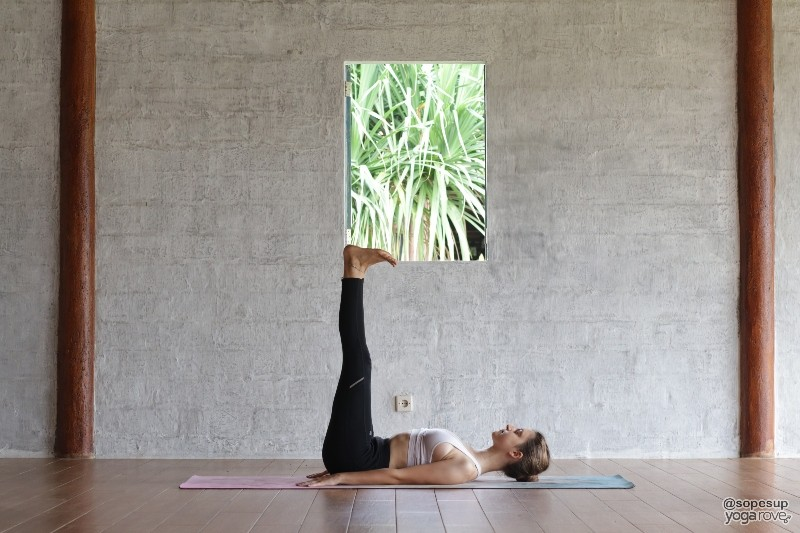 Legs up wall pose for flexibility