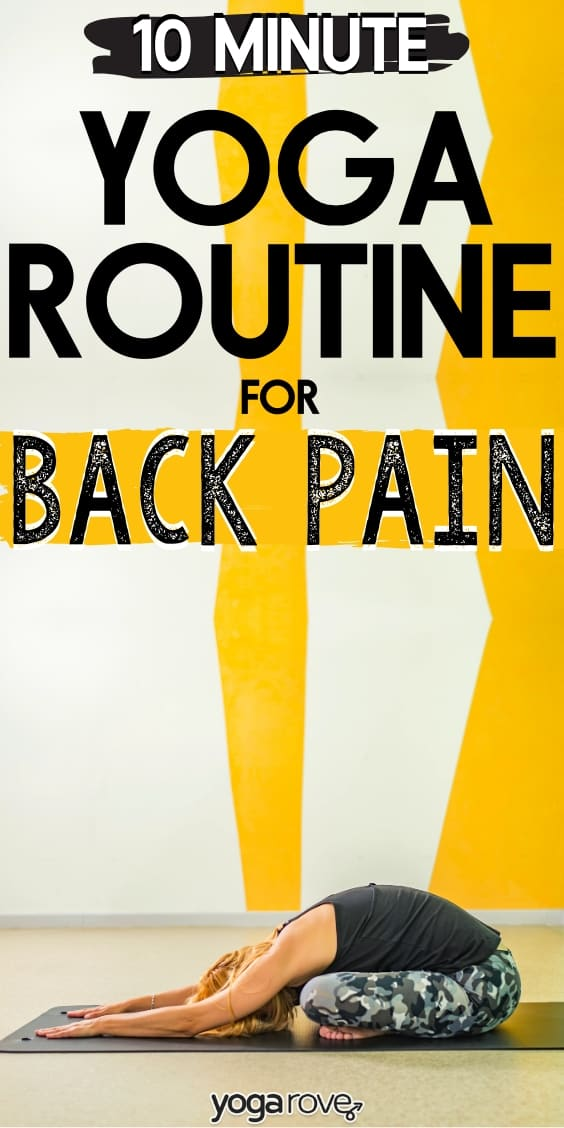 Yoga Routine for Back Pain- 10 Minute