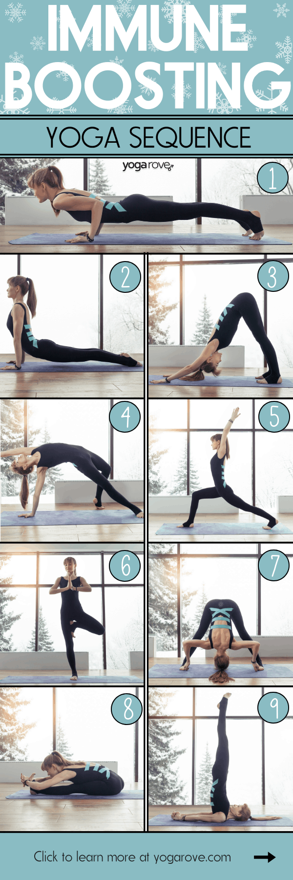 Immune Boosting Yoga Sequence Infographic