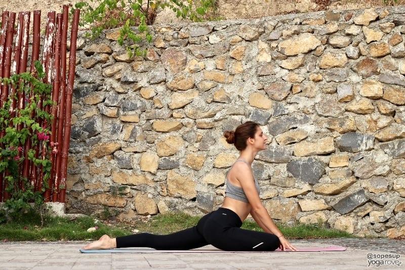 yoga to practice everyday- pigeon pose