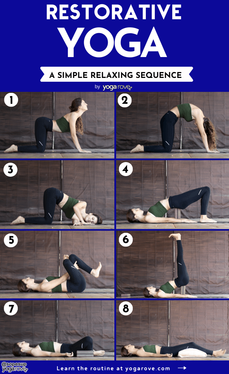 restorative yoga sequence infographic