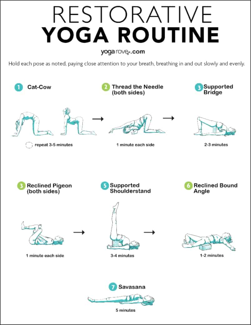 Restorative Yoga Sequence Printable