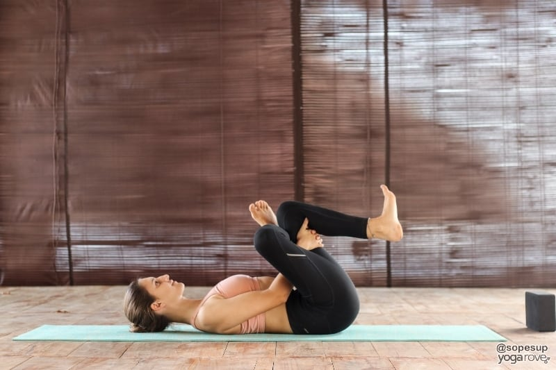 reclined pigeon pose- gentle yoga
