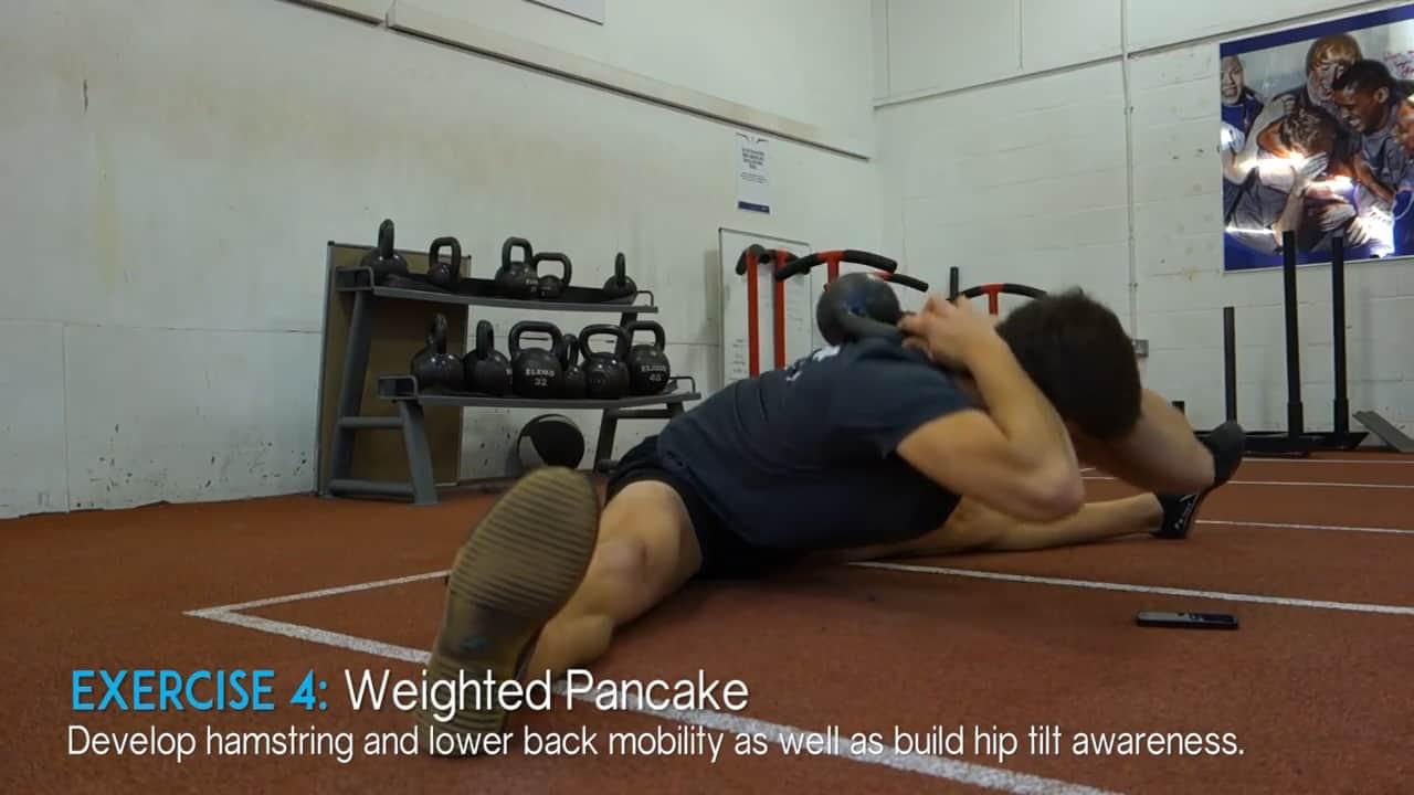 weighted pancake pose
