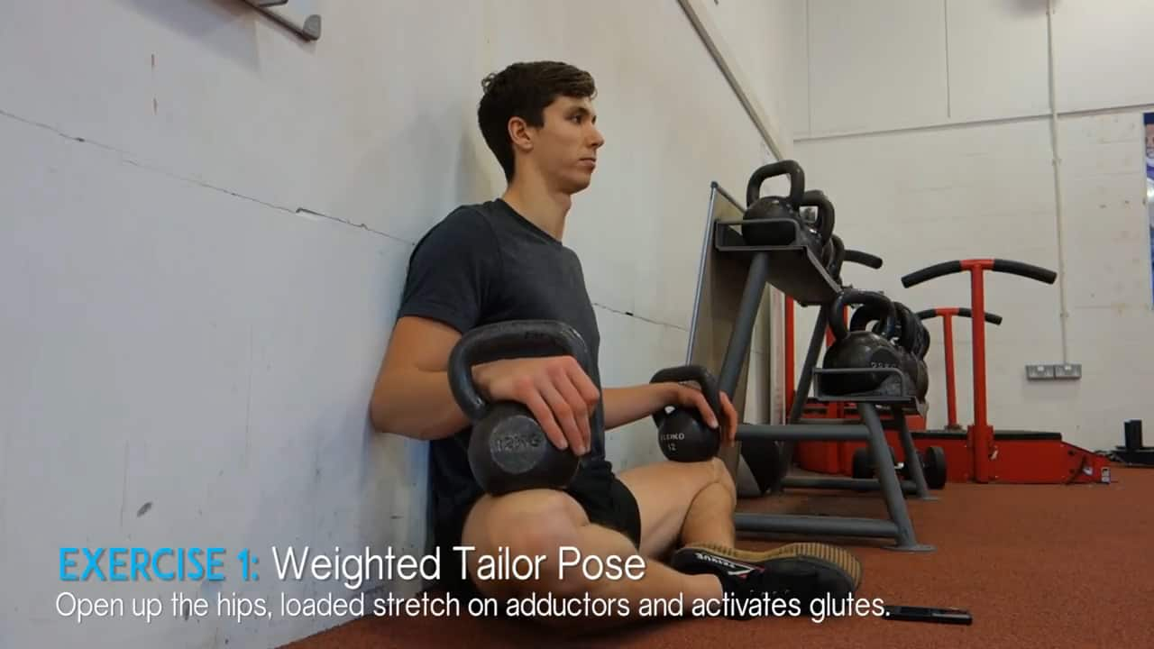 weighted tailor pose