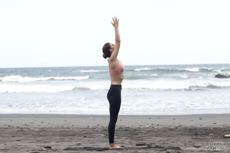 yogi practicing sun salutation a for beginners
