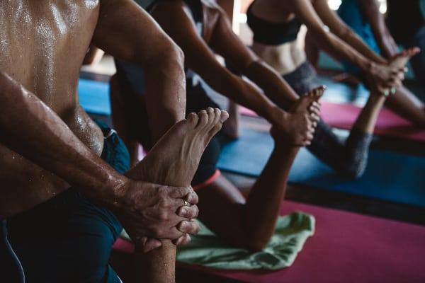 Bikram yoga- a more advanced style of yoga.