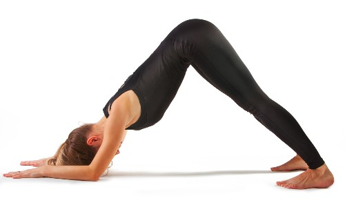 Dolphin Pose tones and strengthens your shoulders and arms.