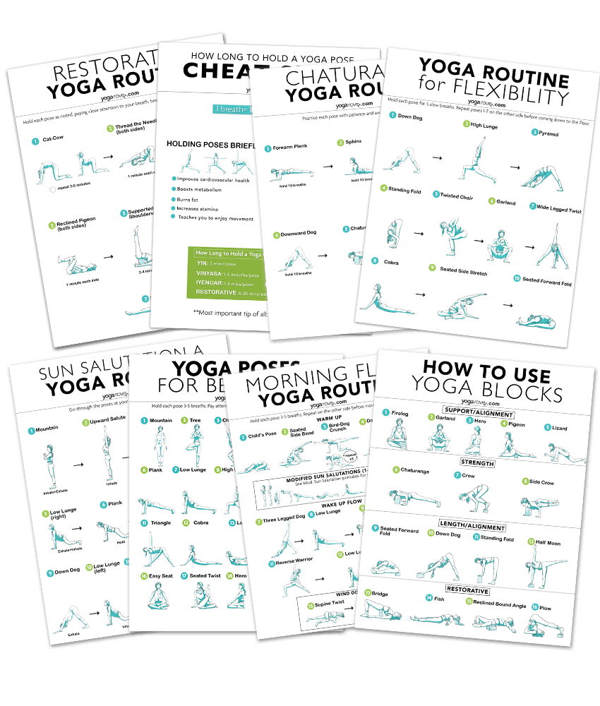 20 Minute Full Body Yoga Workout For Beginners Free Pdf Yoga Rove
