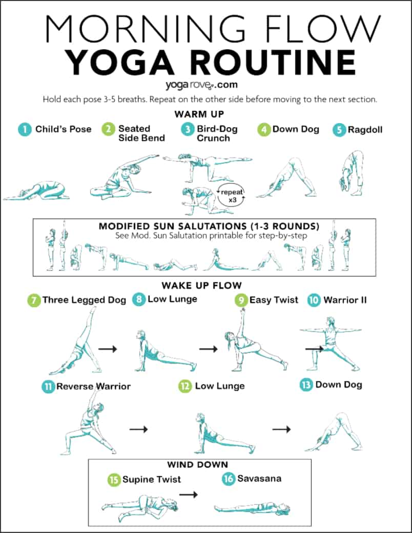 Morning Yoga Routine For Beginners Yoga Rove