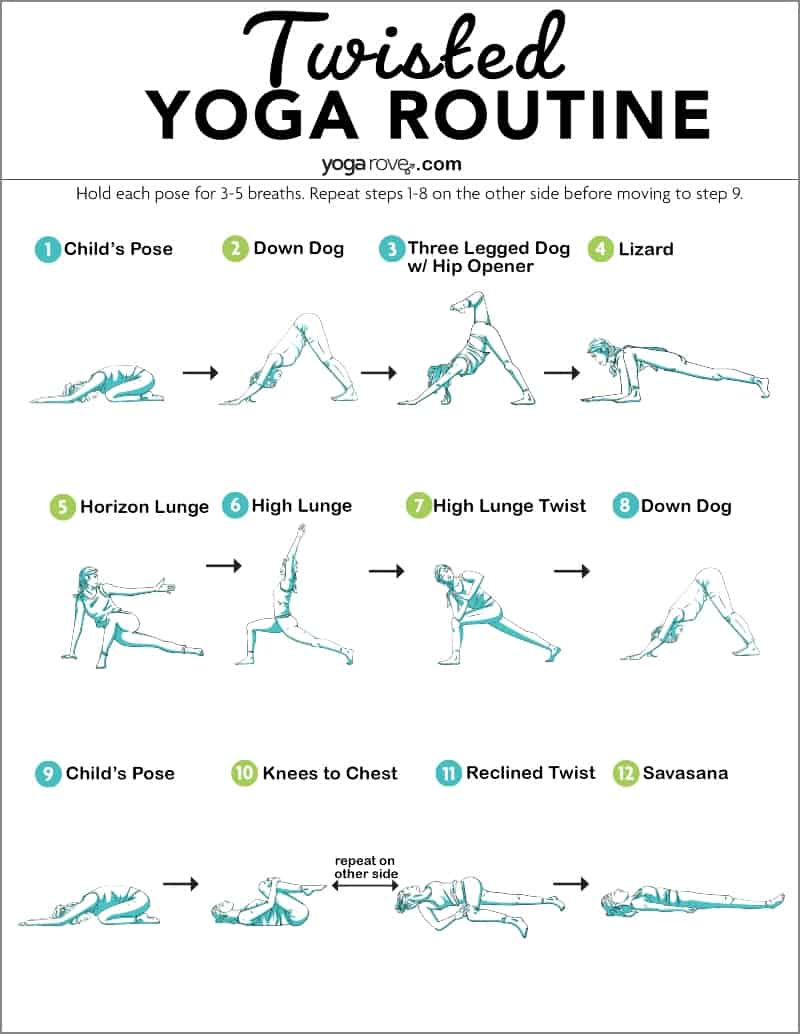 yoga twists printable