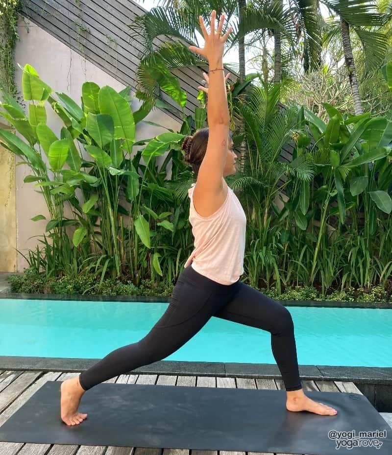 Yogi practicing High Lunge