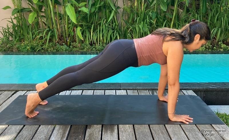Yogi practicing plank pose