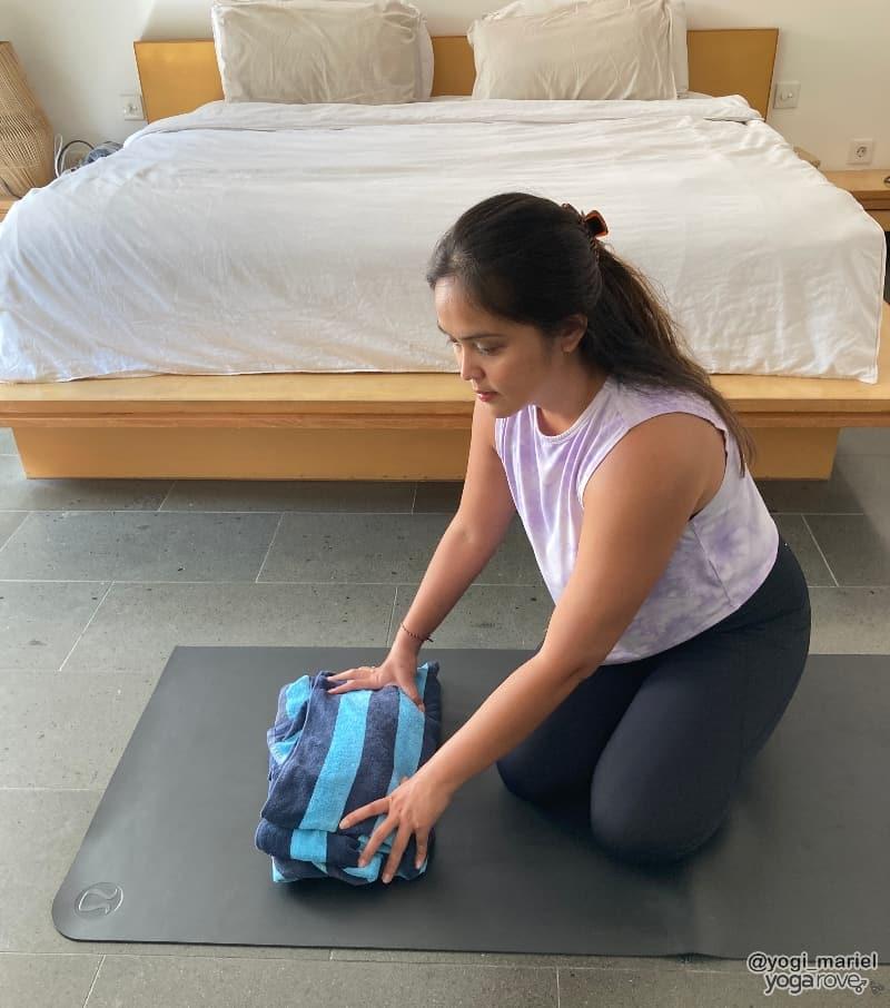 Yogi preparing for practice