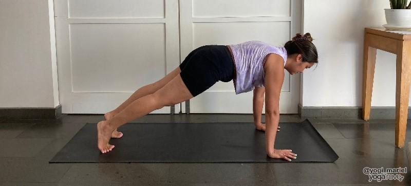 Yogi in Plank pose