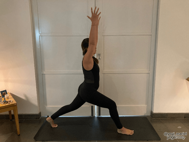 Yogi practicing Crescent Lunge