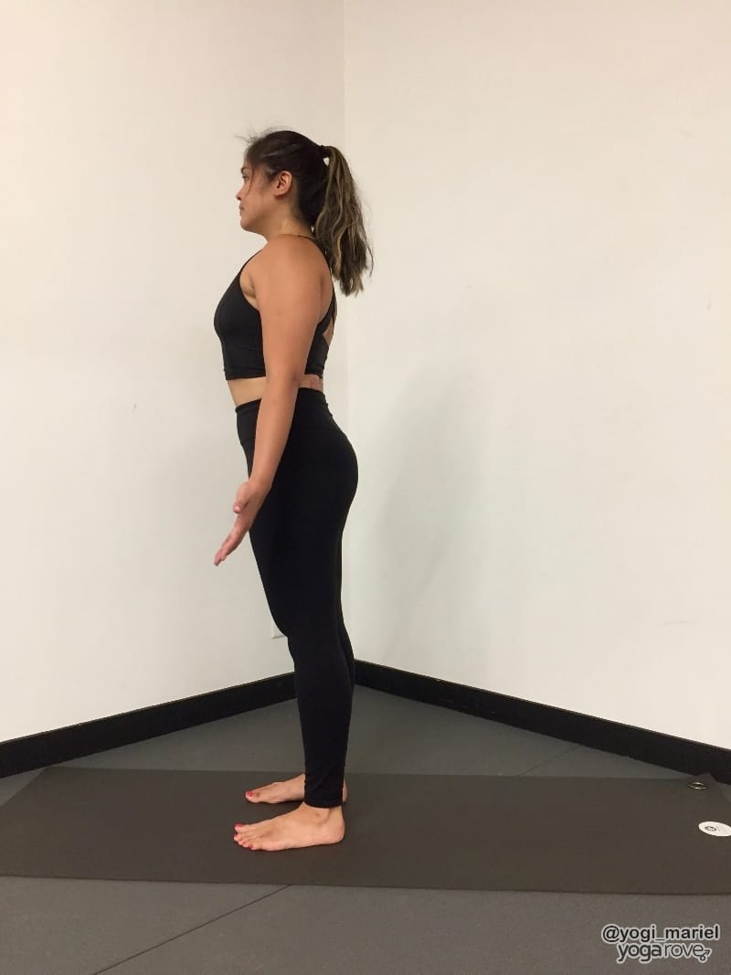 yogi practicing mountain pose- balance and stability routine