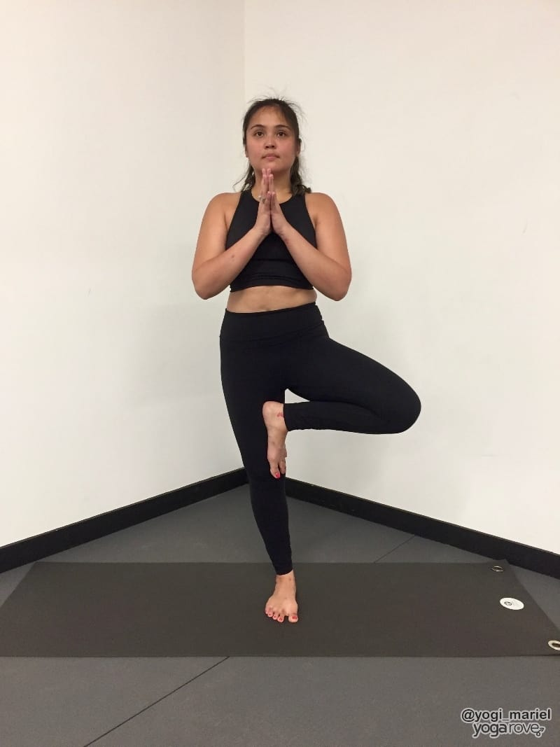 yogi practicing tree pose for balance and stability